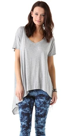 Wilt Slouchy V Neck Tee with Slant Pocket