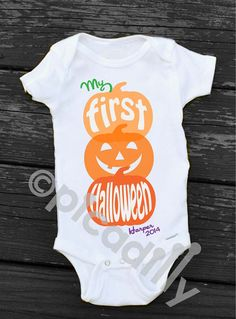 Vest  New My First 1st Halloween 2018 Pumpkin /& spice Baby Grow,Bodysuit