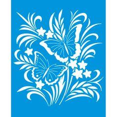 Stencil-Butterfly-172x211-STM-303 --- Litoarte