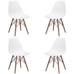 Shop for Poly and Bark Vortex Dining Chair with Walnut Legs (Set of 4). Get free shipping at Overstock.com - Your Online Furniture Outlet Store! Get 5% in rewards with Club O! - 18645083