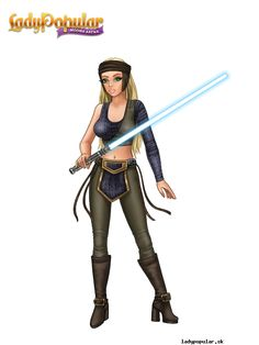 Summer D. as a hero from Star Wars :)
