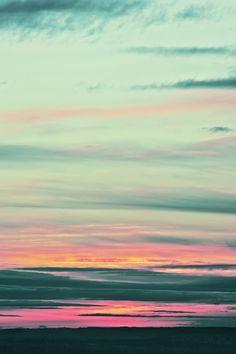 Painted skies.