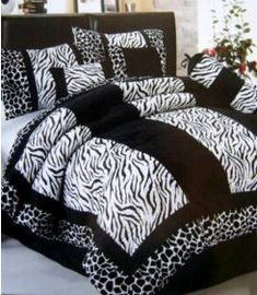 black and white zebra bedding..i need this for my room