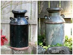 painted milk can idea!