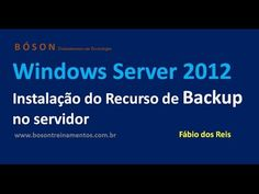 Instalação do Recurso de #Backup no Windows Server 2012 R2