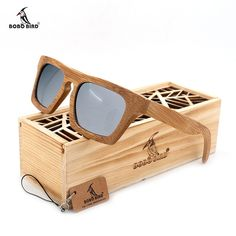 16c06bfb08e BOBO BIRD Wood Bamboo Polarized Sunglasses Colorful Coating Mirrored UV 400  Protection Eyewear in Original Wood