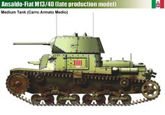 Ansaldo-Fiat M13/40 Medium Tank (late production model)