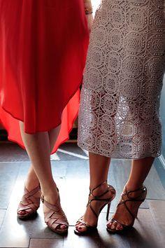 Lace Skirt & Heels | Marissa Lippert and Katie Crown