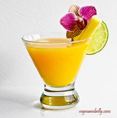 Fresh Margarita recipe with tropical fruits...pineapple and mango! Summer is just around the corner....