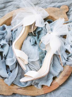 Elise by Joy Proctor for Bella Belle 'Enchanted' bridal collection. Classic skinny strappy wedding heels with removable ankle straps and tulle bow wedding shoes. Sexy Wedding Shoes, Converse Wedding Shoes, Wedge Wedding Shoes, Designer Wedding Shoes, Wedding Boots, Pretty Wedding Dresses, Amazing Wedding Dress, Bride Shoes, Tulle Wedding