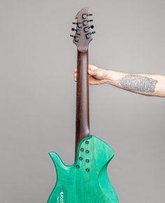 "Badstroke Guitars on Instagram: ""Smash LIKE if you love guitars and tattoos! 💚 Do you guys have a tattoo? ... 🎸 Fiend Series Wendigo 7 📷 @rustyshepherd"""