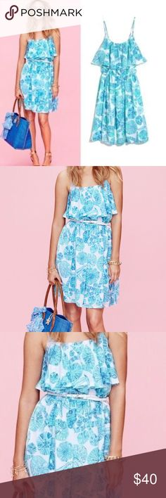 🌟Weekend Sale NWT Lilly Pulitzer for Target Dress NWT Lilly Pulitzer for Target Sand Dollar Dress XS - weekend sale - was $38 - brand new with tags - Size XS - sea urchin print with blue, green, and white  - spaghetti straps, sleeveless - cinched Waist - please note the dress does not come with a belt - Lilly Pulitzer for Target Lilly Pulitzer for Target Dresses Mini