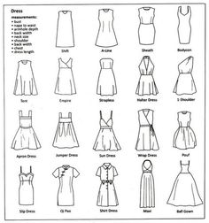 Types Of Dresses Ideas the ultimate clothing style guide sewing patterns sewing Types Of Dresses. Here is Types Of Dresses Ideas for you. Types Of Dresses type of dresses weddings dresses. Types Of Dresses the ultimate clothing st. Sewing Patterns Free, Free Sewing, Sewing Tutorials, Clothing Patterns, Sewing Projects, Sewing Tips, Sewing Hacks, Pattern Sewing, Style Patterns
