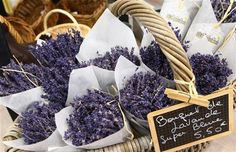 """Bring Provence to your home with a bouquet of Lavender, the """"blue gold"""" of Provence…"""