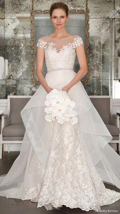 illusion cap sleeves trumpet wedding dres (rk7407) mv optional sheer aline overskirt