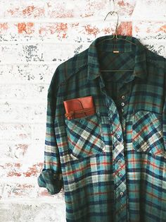 Free People Dip Dye Plaid Buttondown at Free People Clothing Boutique