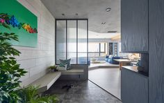 Taiwanese office HAO Design has completed the interior of this modern family apartment in Kaohsiung City for a family with two daughters. Contemporary Interior Design, Decor Interior Design, Interior Decorating, Interior Modern, Home Interior, Green Apartment, Family Apartment, Family Room, Home And Family