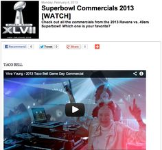 Superbowl Commercials 2013 [WATCH]