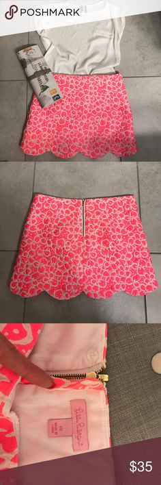 Lilly Pulitzer skirt Gorgeous skirt, like NEW condition 👍🏻 Lilly Pulitzer Skirts Mini