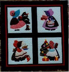 Sunbonnet Sue Designs. Applique Patterns sold by Donna Poster