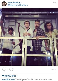 1D just posted this on IG! // Cardiff - 6.5.15. (By: @KRF1D)