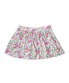 Love this White & Pink Natalie Bubble Skirt - Toddler, Girls & Girls' Plus by Soft Clothing on #zulily! #zulilyfinds