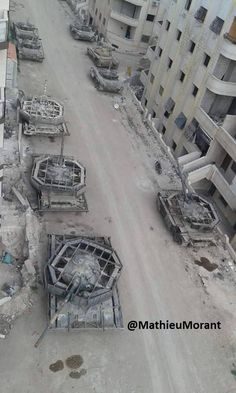 SAA T-72 tanks fitted with spaced armor (X-post /r/interestingasfuck) [552x920]