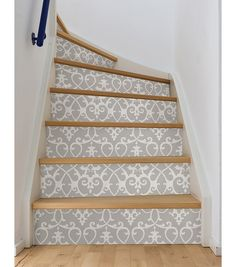Modern Staircase Design Ideas - Browse images of modern stairs and discover design and also format ideas to motivate your own modern staircase remodel, consisting of unique railings as well as storage space . Wallpaper Stairs, Of Wallpaper, Peel And Stick Wallpaper, Wallpaper Online, Remove Wallpaper, Modern Staircase, Staircase Design, House Staircase, Stair Design