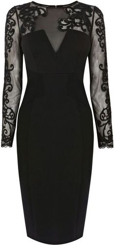 Karen millen heavy cotton lace collection dress