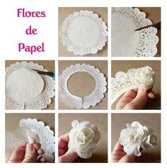 decoracion con flores de papel - Buscar con Google