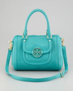 Amanda Middy Satchel Bag, Turquoise by Tory Burch at Neiman Marcus.