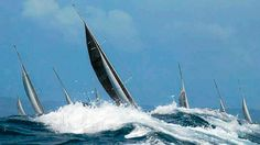 Dire strait: A 10 metre swell is is expected to greet the Sydney to Hobart fleet in Bass Strait. 2013