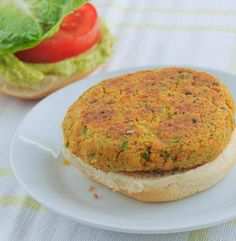 For those of you that love falafels- this burger is for you. It's very similar to the ingredients and preparation of falafels. it's super healthy! Pan fried in minimal oil and chocked full of veggies. Plus it's so simple to prepare, using the food processor every step of the way.