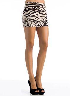 laser cut zebra print skirt $10.95 on gojane.com