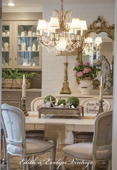 15 ways to DIY your dream dining room table (for half the price!) - 15 ways to DIY your dream dining room table (for half the price!) Gorgeous French Country Dining Room and accessories French Country Dining Room, French Country Kitchens, French Country Farmhouse, French Country Bedrooms, French Country Style, French Country Decorating, French Country Wall Decor, French Cottage, French Dining Chairs