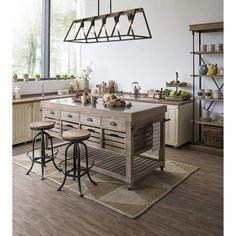 Modern Farmhouse Interiors, Modern Farmhouse Kitchens, Home Kitchens, Farmhouse Kitchen Lighting, Home Decor Kitchen, New Kitchen, Dining Room Light Fixtures, Kitchen Chandelier, Farmhouse Chandelier