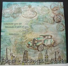 PAPER - STAMPS - COLOR: Week 22 of Journal52 - Traveling