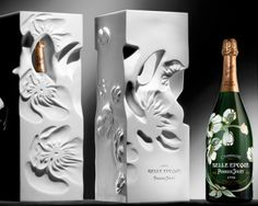 To know more about Perrier Jouet Bi-Centenaire Champagne Daniel Arsham designed packaging, visit Sumally, a social network that gathers together all the wanted things in the world! Champagne Moet, Champagne Brands, Best Champagne, Expensive Champagne, Luxury Packaging, Beverage Packaging, Bottle Packaging, Brand Packaging, Wine Design