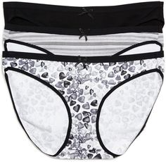 Printed Fabric Maternity Bikini Panties (3 Pack)