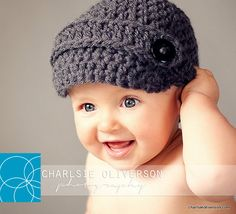 c742c02cb4e Items similar to HANDEMADE NEWSBOY Baby Boy Hat Newborn Infant Gift Ready  on Etsy
