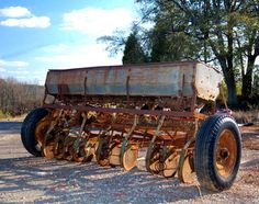 old farm equipment.....seed drill