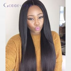150% Density Natural Black Virgin Full Lace Human Hair Wigs Glueless Full Lace Front Wig Straight Wigs for Black Women Free Ship