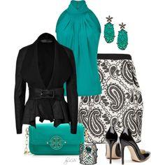 Metallic Paisley Jacquard Skirt