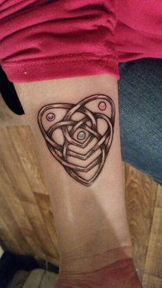 My first tattoo. A Celtic Motherhood Knot.