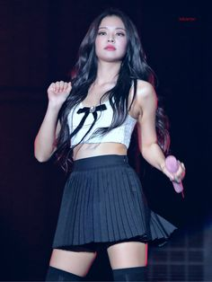 Photo album containing 22 pictures of Jennie Blackpink Outfits, Stage Outfits, Blackpink Jennie, Jennie Kwon, Korean Girl, Asian Girl, Black Pink, Blackpink Photos, Blackpink Fashion