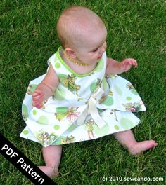 Sew Can Do Reversible Liane Wrap Baby Dress PDF Pattern. $6.00, via Etsy.