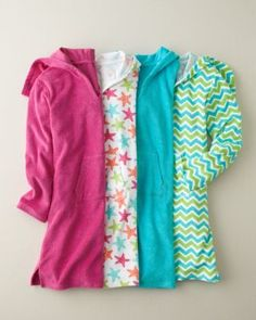 Hooded Terry Cover-Up - Baby Girls and Girls - Garnet Hill