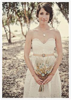 BCBG eyelet wedding dress