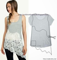 T-shirt is broken it?  14: Decorating ideas (Master Class) - maomao - I move your feet