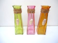 Yellow Pink and Orange Nautical Glass Wrapped by ChicEventsDecor, $35.00